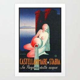 Castellammare di Stabia - Naples Italy Art Print