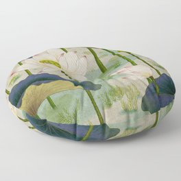 Lotus flowers F - Minhwa-Korean traditional/folk art Floor Pillow