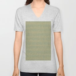 Sweet Pea Green on Earthy Green Parable to 2020 Color of the Year Back to Nature Bold Grunge Dashes Unisex V-Neck