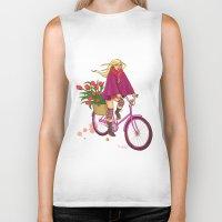 amsterdam Biker Tanks featuring Amsterdam by Nila V