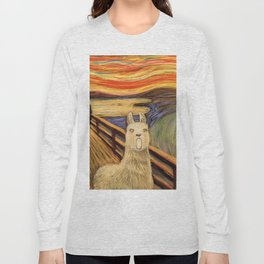 screaming llama Long Sleeve T-shirt