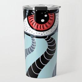 Abstract Surreal Double Red Eye Travel Mug