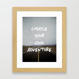 Choose Your Own Adventure Framed Art Print