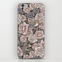 Flowers & Swallows iPhone Skin