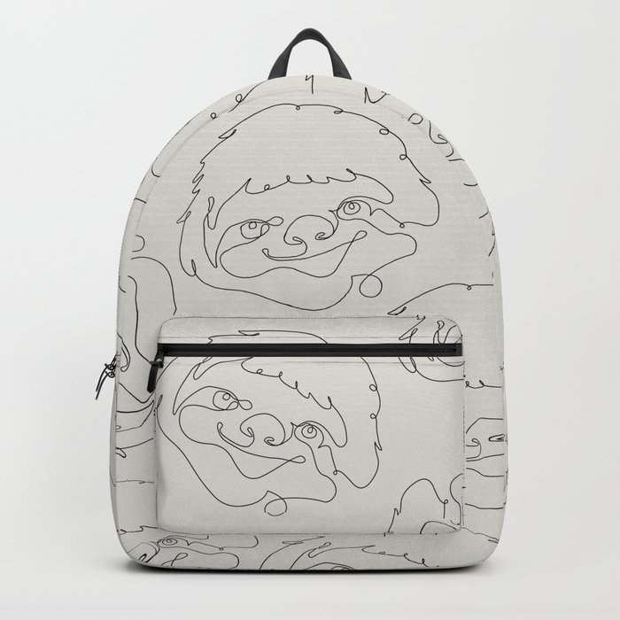 One Line Sloth Backpack
