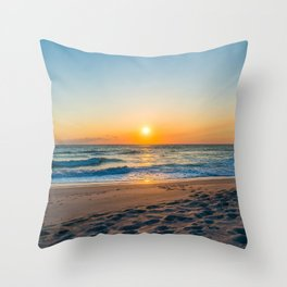 Canaveral National Seashore Sunrise Throw Pillow