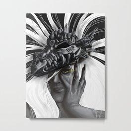Dragon Woman Metal Print
