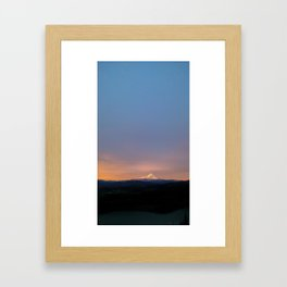 (#34) Morning Mountain Glow Framed Art Print