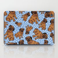 pugs iPad Cases featuring spotty pugs by lindseyclare