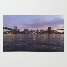 Between Two Iconic New York Bridges Rug