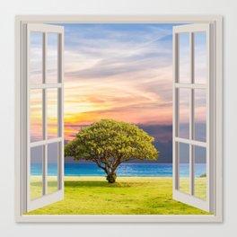 Seashore View | OPEN WINDOW ART Canvas Print