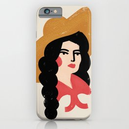 Abstract Cowgirl iPhone Case
