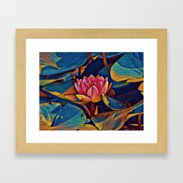 Painted Waterlily Framed Art Print
