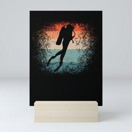 Scuba Diving for Scuba Divers Underwater Retro Mini Art Print