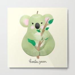 Koala Pear Metal Print