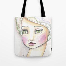 Dreamy Eyed Girl in Sherbert Tote Bag