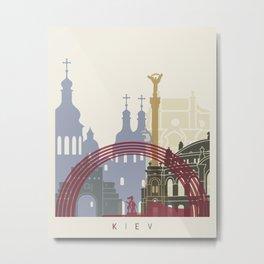 Kiev skyline poster Metal Print