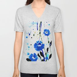 Dreaming In Blue 100b by Kathy Morton Stanion Unisex V-Neck