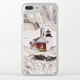 Lighthouse reflection Clear iPhone Case