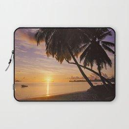 sunset on Praslin Laptop Sleeve