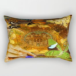 Civitate Dei   City of God  Rectangular Pillow