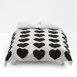 Black Hearts to Crumble Comforters