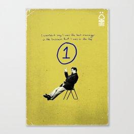 Nottingham Forest Legends Series: Brian Clough Graphic Poster Canvas Print