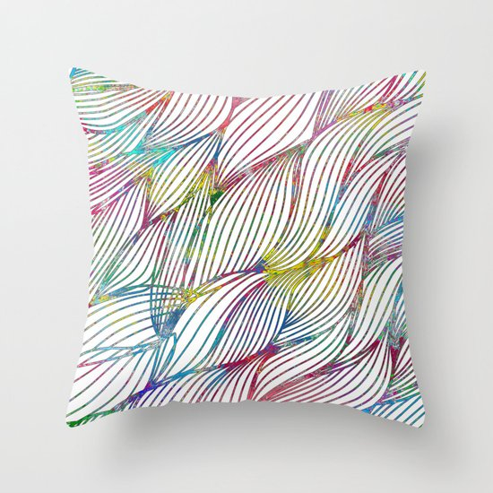 Trace Paint Abstract Throw Pillow