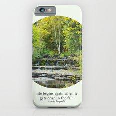 fall leaves + f scott fitzgerald iPhone 6s Slim Case