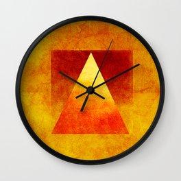 Triangle Composition VI Wall Clock
