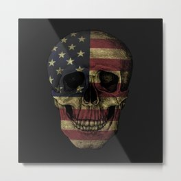 Patriotic to the Bone Metal Print