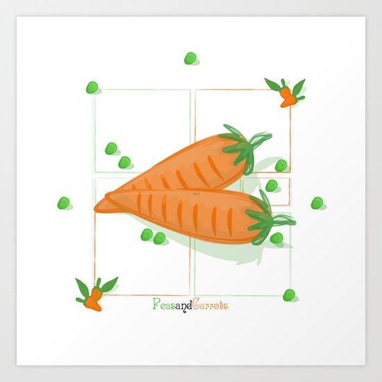Peas & Carrots Art Print