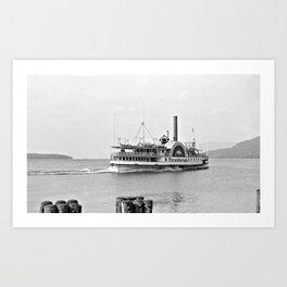 Ticonderoga Side Wheeler Steamboat Art Print