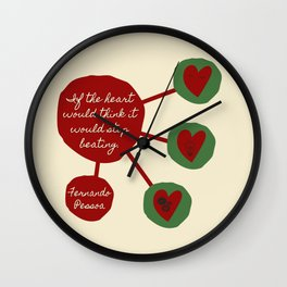Fernando Pessoa: If the heart could think... Wall Clock