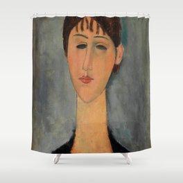 "Amedeo Modigliani ""Portrait of Mme Zborowska"" Shower Curtain"