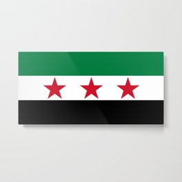 Independence Flag of Syrian, High quality Metal Print