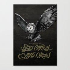 Blues Control + Sand Circles Canvas Print