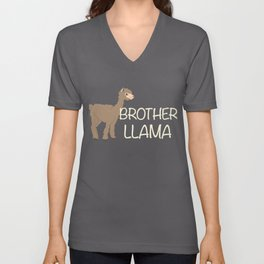 Brother Llama Cute Alpaca Farmer Peruvian Pet Unisex V-Neck