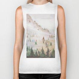Forêt dans la brume Biker Tank