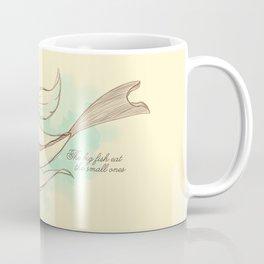 The big fish eat the small ones Coffee Mug