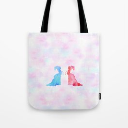 Mirorring Watercolor Victorian Woman style Tote Bag