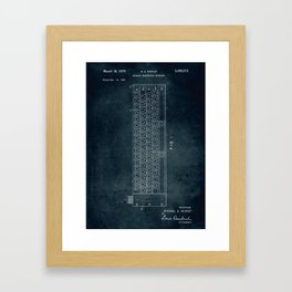 1967 - Modular electrical keyboard Framed Art Print