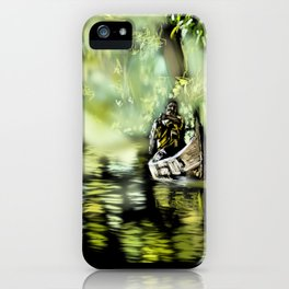 58 - Canoe through backwaters, sunny Alleppey, Kerala iPhone Case