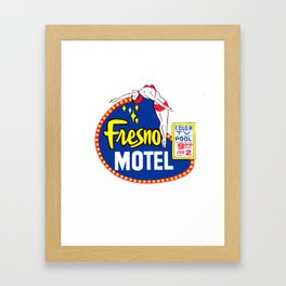 FRESNO MOTEL Framed Art Print