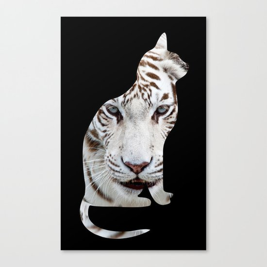 BIG AND SMALL CAT Canvas Print