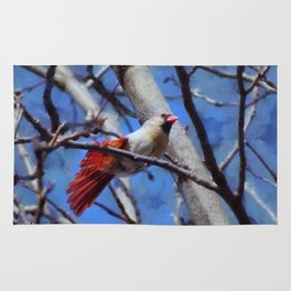 Female Cardinal Flirting Rug