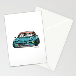 Crazy Car Art 0156 Stationery Cards