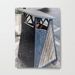 The Garbage Bin Metal Print