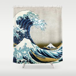 The great wave, famous Japanese artwork Shower Curtain