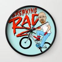 breaking Wall Clocks featuring Breaking Rad by Chris Piascik